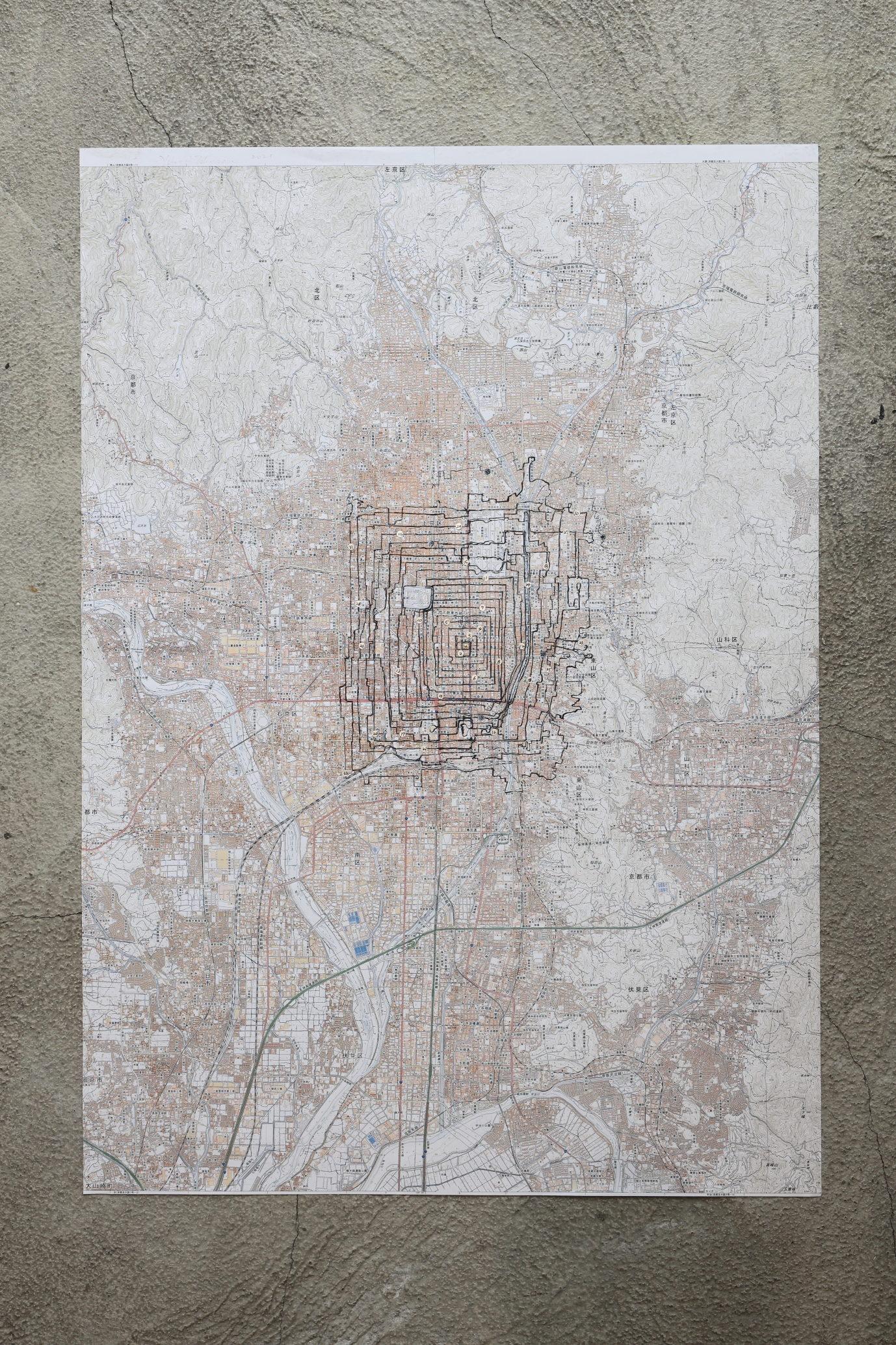 地図 (京都) : 足でかく